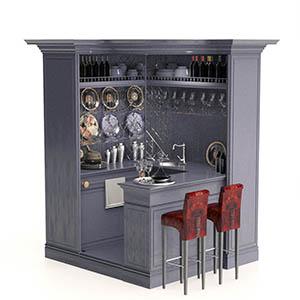 厨柜组合3D模型-0412C15
