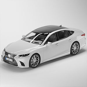 雷克萨斯LS 2018款 豪华版汽车3D模型-070301C47
