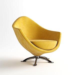 单人沙发3D模型-010201S37