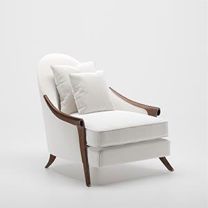 单人沙发3D模型-010201S35
