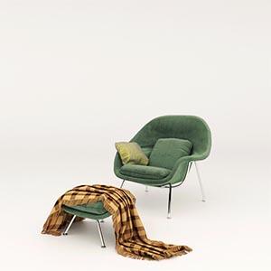 单人沙发3D模型-010201S38