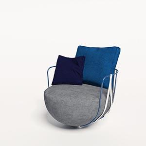 单人沙发3D模型-010201S39
